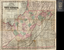 Mid-Atlantic, West Virginia and Midwest Map By G.W.  & C.B. Colton