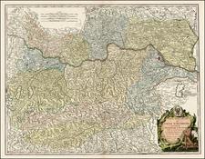Austria Map By Gilles Robert de Vaugondy