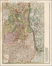 Switzerland and Germany Map By Johann Baptist Homann
