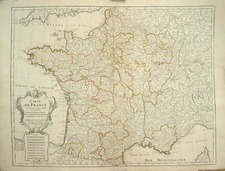 Europe and France Map By Philippe Buache