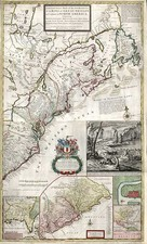 United States, New England and Mid-Atlantic Map By Herman Moll