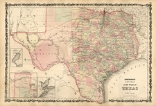 Texas Map By Benjamin P Ward  &  Alvin Jewett Johnson