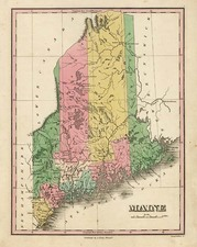 New England Map By Anthony Finley