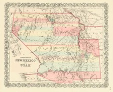 Southwest and Rocky Mountains Map By Joseph Hutchins Colton