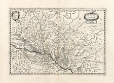 Europe, France and Germany Map By Matthaus Merian