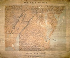 Mid-Atlantic Map By J. Schedler / Sarony, Major & Knapp
