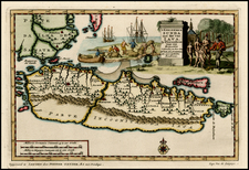 Southeast Asia Map By Pieter van der Aa