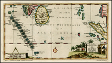 India, Southeast Asia and Other Islands Map By Pieter van der Aa