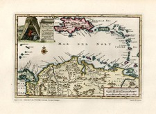 Caribbean and South America Map By Pieter van der Aa