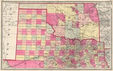 Texas, Plains and Southwest Map By H.C. Tunison