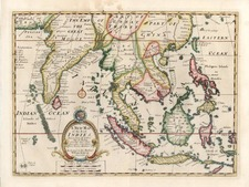 China, India, Southeast Asia and Philippines Map By Edward Wells