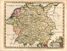Europe and Germany Map By Thomas Jefferys