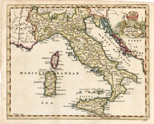Europe, Italy and Balearic Islands Map By Thomas Jefferys