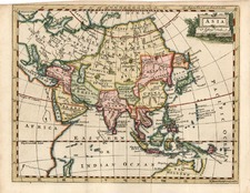 Asia, Asia, Australia & Oceania and Oceania Map By Thomas Jefferys