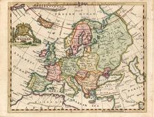 Europe and Europe Map By Thomas Jefferys