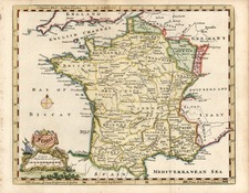 Europe and France Map By Thomas Jefferys