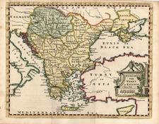 Europe, Hungary, Balkans, Turkey and Greece Map By Thomas Jefferys