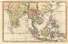Asia, China, India, Southeast Asia and Philippines Map By Thomas Jefferys