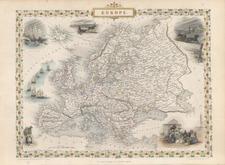 Europe and Europe Map By John Tallis