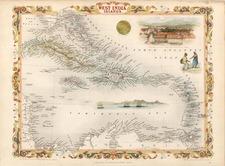 Caribbean Map By John Tallis