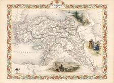 Europe, Turkey, Mediterranean, Asia, Middle East and Turkey & Asia Minor Map By John Tallis