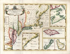New England, Mid-Atlantic and Caribbean Map By Edward Wells