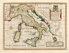 Europe, Italy and Balearic Islands Map By Edward Wells
