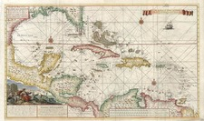 Southeast, Caribbean and Central America Map By Gerard Van Keulen