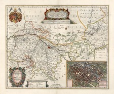 Europe, Poland and Czech Republic & Slovakia Map By Henricus Hondius