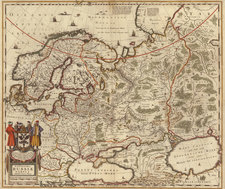 Europe, Europe, Russia, Balkans, Scandinavia, Asia and Russia in Asia Map By Henricus Hondius