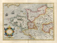 Europe and France Map By Henricus Hondius - Gerard Mercator