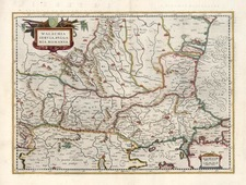 Europe, Romania and Balkans Map By Henricus Hondius / Gerard Mercator