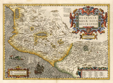 Mexico Map By Jodocus Hondius / Gerhard Mercator
