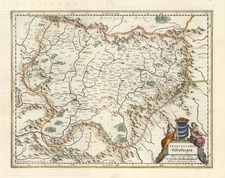 Europe and Romania Map By Henricus Hondius