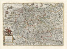 Europe, Netherlands, Germany and Poland Map By Henricus Hondius