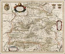 Spain Map By Henricus Hondius
