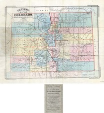 Southwest and Rocky Mountains Map By H.L. Thayer