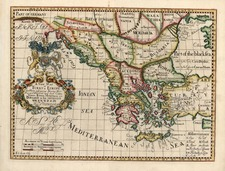 Europe, Balkans, Turkey, Balearic Islands, Asia and Turkey & Asia Minor Map By Edward Wells