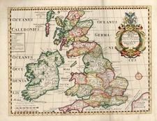 British Isles Map By Edward Wells