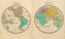 World and World Map By Conrad Malte-Brun