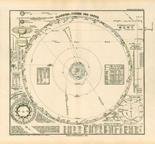 World, Curiosities and Celestial Maps Map By Adolf Stieler