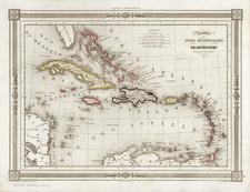 Caribbean Map By Thunot Duvotenay