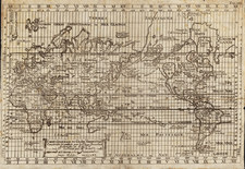 World and World Map By Isaac Brouckner / Giovanni Antonio Remondini