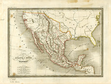 Texas, Mexico and California Map By Conrad Malte-Brun