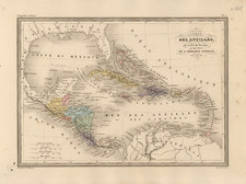 Caribbean and Central America Map By Alexandre Vuillemin