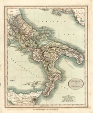 Europe and Italy Map By John Cary