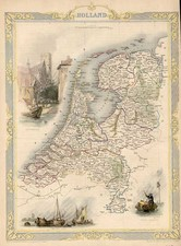 Europe and Netherlands Map By John Tallis