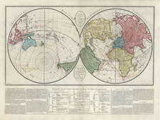 World, World and Polar Maps Map By Guiseppe Molini