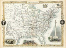 United States Map By John Tallis
