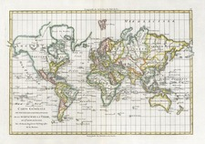 World and World Map By Rigobert Bonne